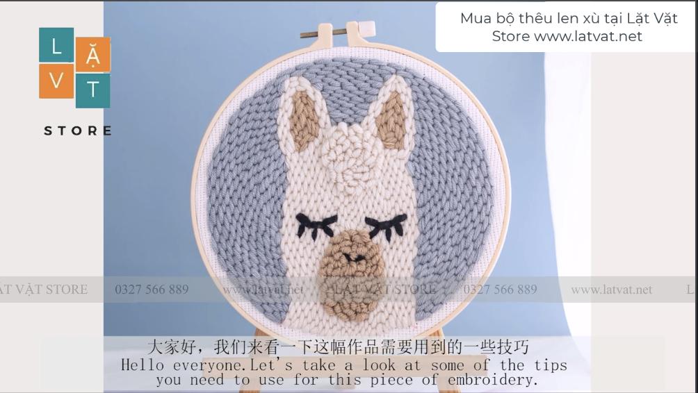 Hướng dẫn bộ len xù Lạc Đà Mipan cute - Punch Needle - Handmade - Moth's Cloth